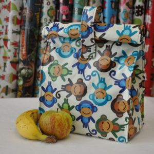 One of our lunch bag kits with a laminated cotton outer