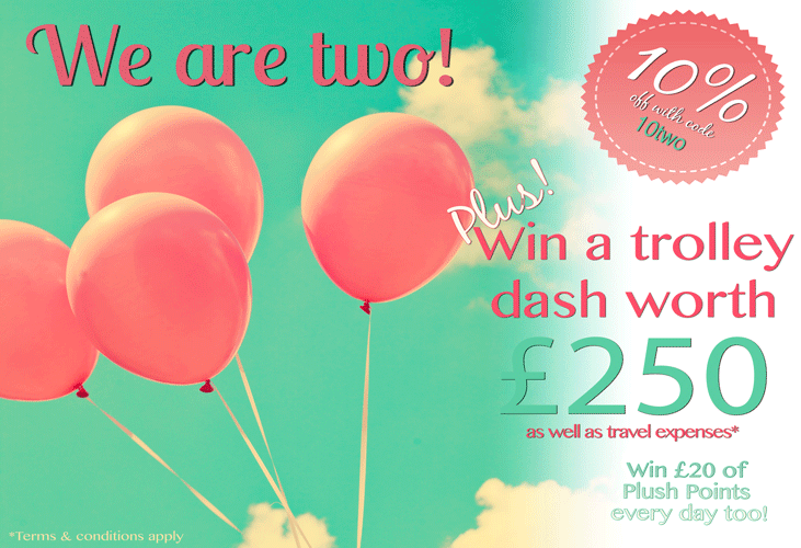 Happy Birthday To Us! 10% Off And Win a £250 Trolley Dash