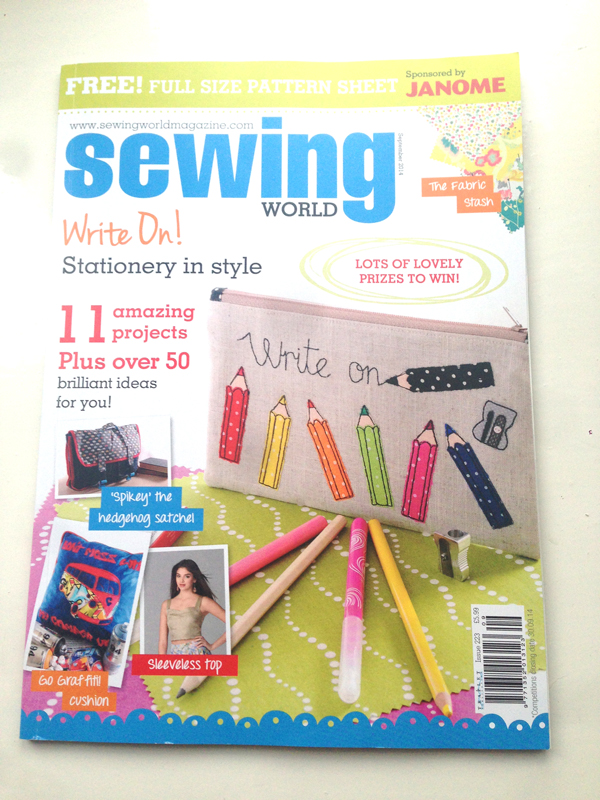 I'm in this month's Sewing World magazine and you can get a discounted subscription!