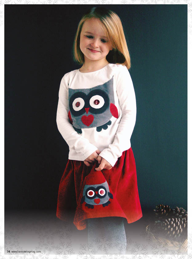 LS07.P34-37 Owl dress, skirt and top