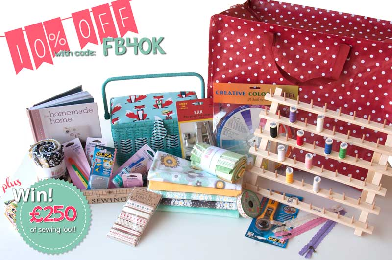 Fancy 10% Off And £250 Of Sewing Loot? We'reCelebrating!