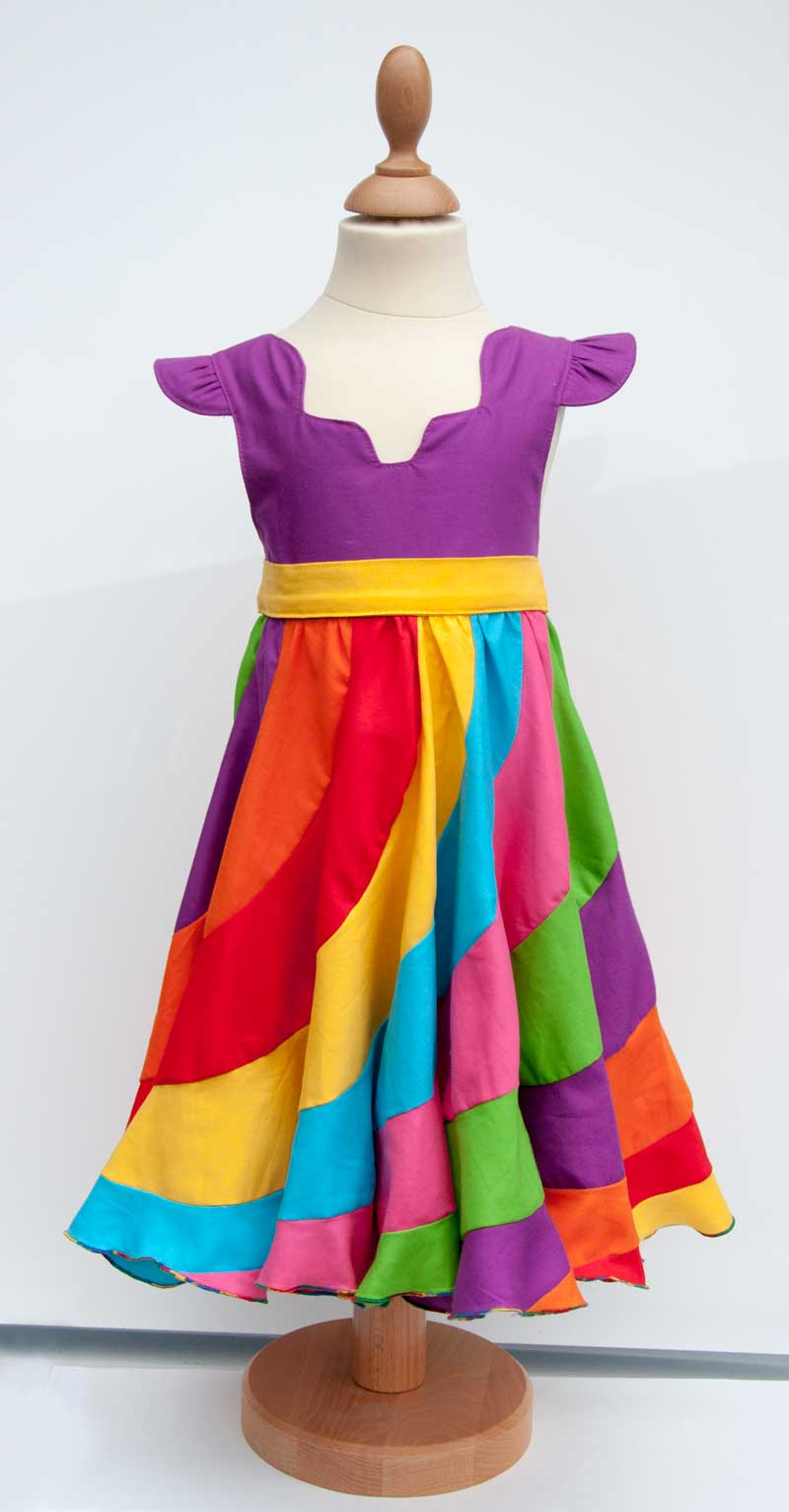 A Rainbow Kona Cotton Peppermint Swirl Dress