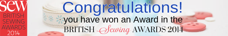 We Won In The British Sewing Awards! Thanking You Muchly