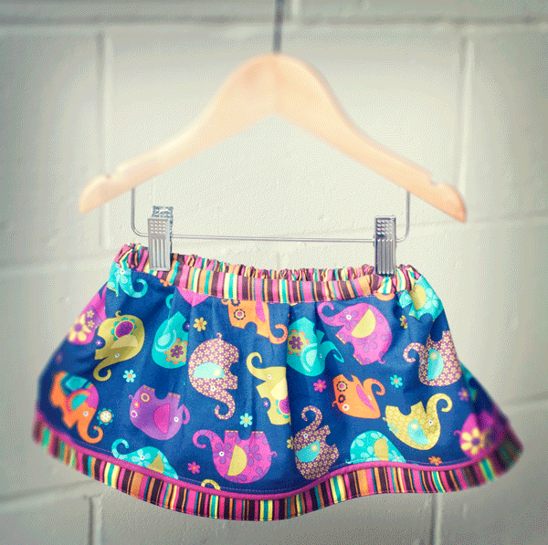 Sew A Child's Skirt: Part 3 Add a Lining & Make a Half Elastic Waistband