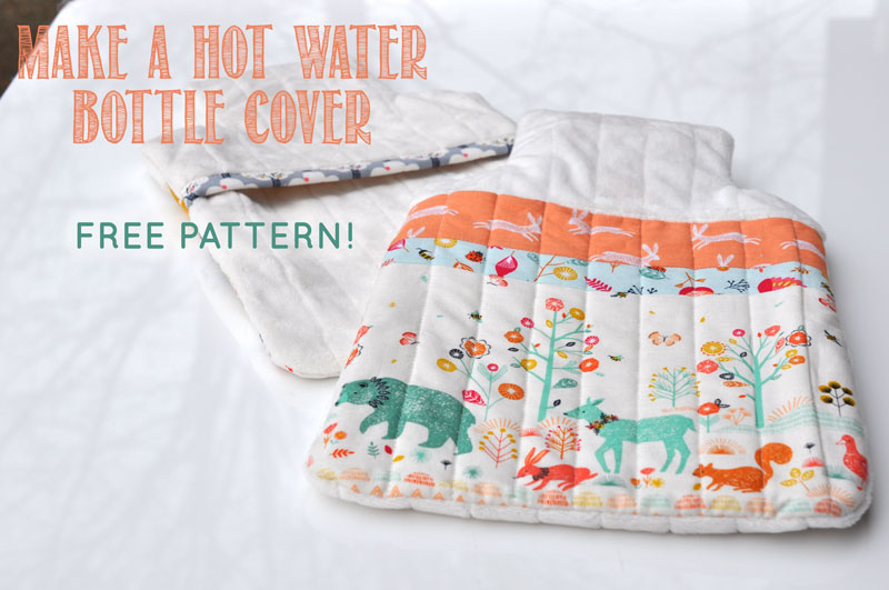 Hot Water Bottle Cover Tutorial And Free Pattern