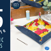 15 Minute Upcycled Fabric Tray Tutorial