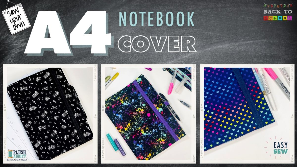 Get Set for Back To School and Sew a Fabric Notebook Cover in 30minutes!